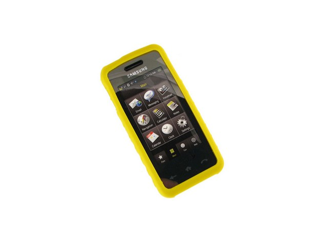 Yellow Silicone Protective Skin Cover Case For Samsung Instinct M800