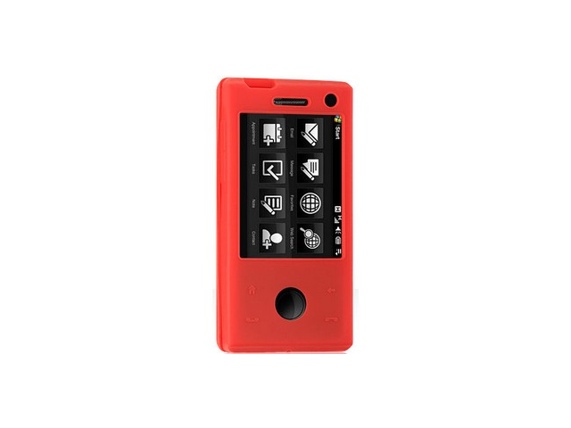 Red Protective Silicone Cover Skin Case For HTC Touch Pro Fuze