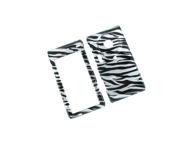 Durable Plastic Phone Design Cover Case 2D Silver Zebra For Samsung Memoir T929