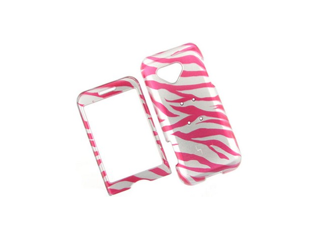 Design Plastic Phone Protective Cover Case 2D Hot Pink Zebra For T-Mobile G1