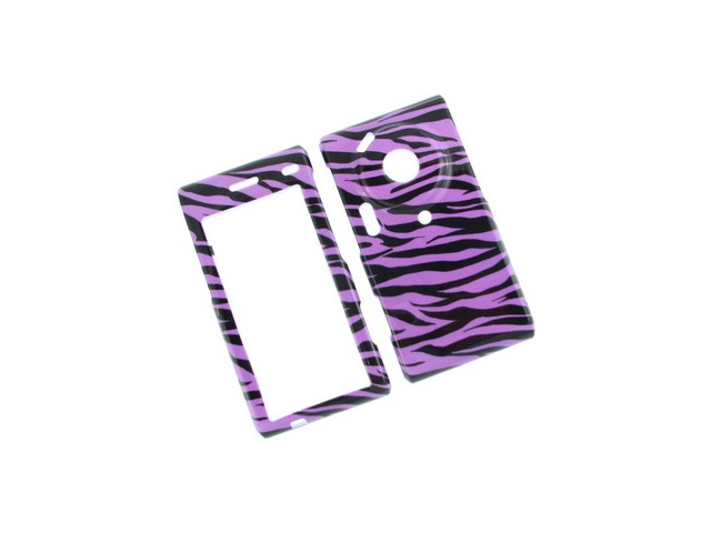 Durable Plastic Phone Design Cover Case Purple Zebra For Samsung Memoir T929