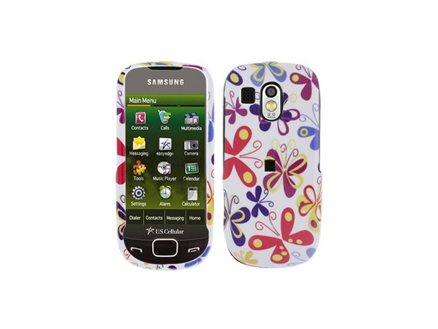 Two Piece Plastic Phone Design Cover Case Color Butterfly For Samsung Caliber R850