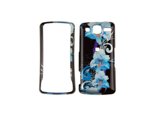 Snap On Plastic Phone Design Case Cover Blue Flower For LG eXpo GW820