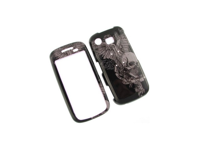 Snap On Plastic Phone Design Case Cover Skull Wing For Samsung Impression A877