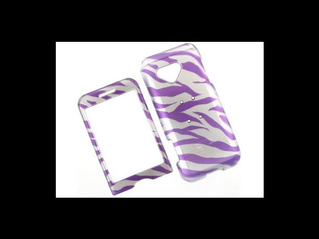 Design Plastic Phone Protective Cover Case 2D Purple Zebra For T-Mobile G1