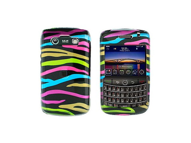 Solid Plastic Phone Design Case Cover Rainbow Zebra For BlackBerry Bold 9700 9780