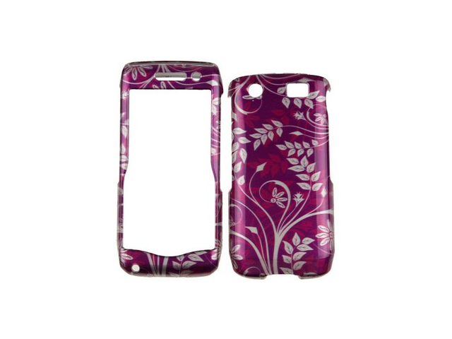 Hard Plastic Phone Design Case Cover Purple Flower For BlackBerry Pearl 3G