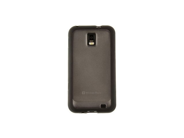 TPU Flexible hybrid one-piece wrap-on Cover Phone Protector Case with Cool Stylish PROZKIN Clear back Design for Samsung Focus S