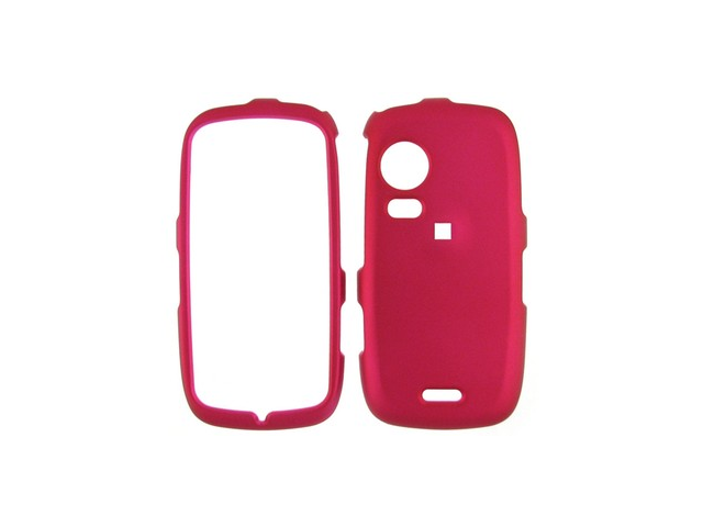 Rubberized Plastic Phone Case Rose Pink For Samsung Instinct HD S50
