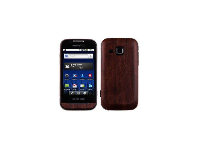 Skinomi TechSkin Dark Wood Film Shield & Screen Protector for Samsung Forte R-910