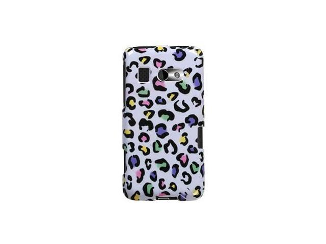Solid Plastic Protective Phone Cover Case Colorful Leopard For HTC Surround