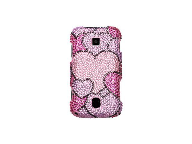 Hard Diamond Design Phone Protector Case Cloudy Hearts For Huawei Ascend
