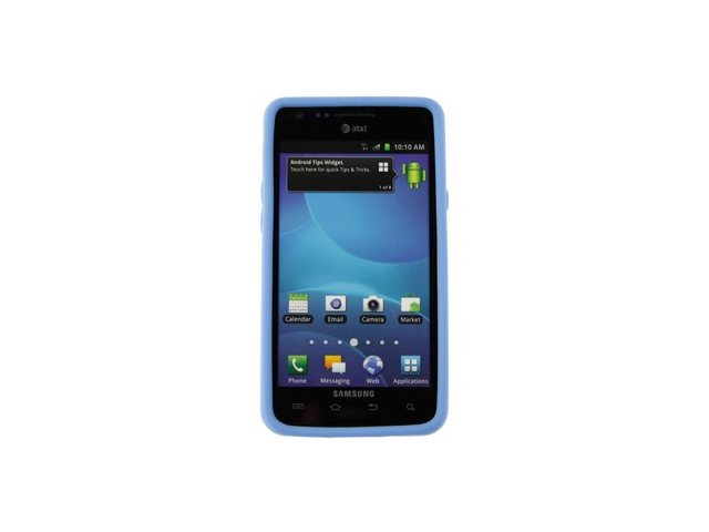 Dark Blue Solid Silicone Skin Cover Case for Samsung Galaxy S II i777 AT&T