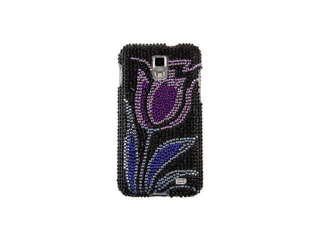 Diamond Design Plastic Phone Cover Case Purple Flowering Tulip For Samsung Galaxy S 2 Skyrocket