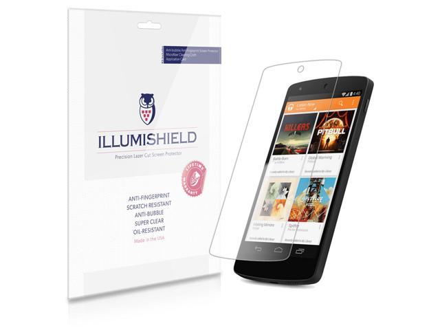 iLLumiShield – Google Nexus 5 Screen Protector Japanese Ultra Clear HD Film with Anti-Bubble and Anti-Fingerprint – High ...