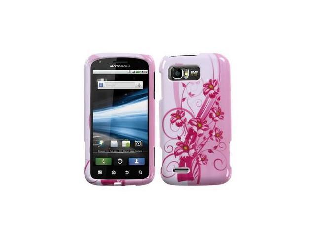 Blooming Lily Image Hard Plastic Phone Cover Case for Motorola ATRIX 2 MB865