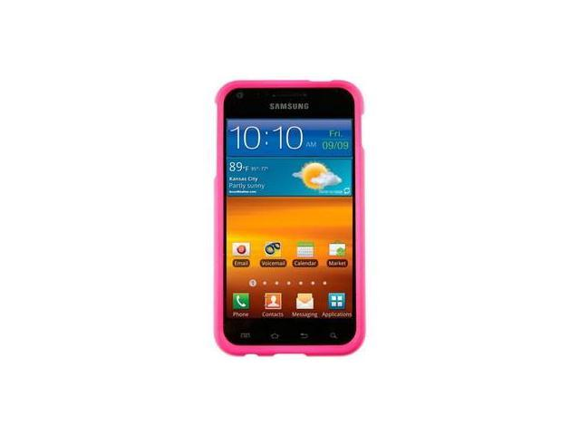 Solid Rubber Coated Plastic Phone Protector Case Cover Pink For Samsung Epic Touch