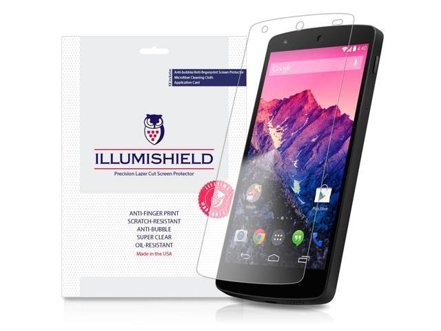 LG Nexus 5 Screen Protector (Google Nexus 5)[3-Pack], iLLumiShield - Japanese Ultra Clear HD Film with Anti-Bubble and Anti-Fingerprint - High Quality Invisible Shield - Lifetime Warranty