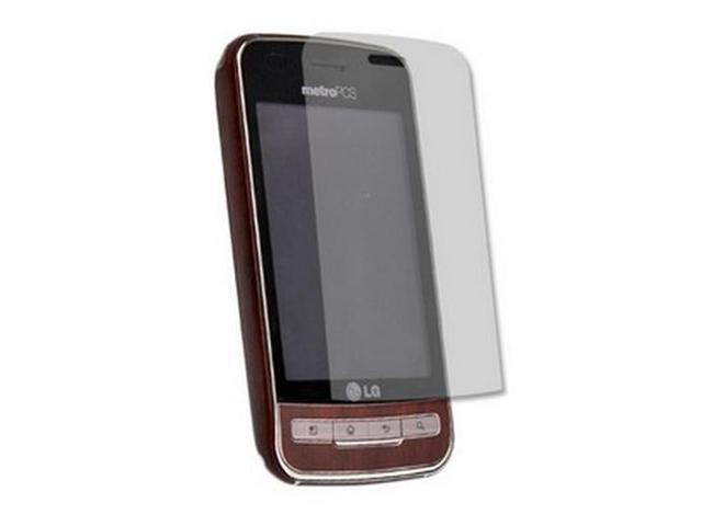 Skinomi TechSkin Dark Wood Film Shield & Screen Protector for LG Optimus M