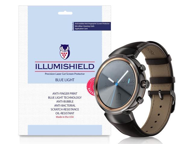Asus ZenWatch 3 Screen Protector [2-Pack], iLLumiShield Blue Light Screen Protector for Asus ZenWatch 3 HD Shield with Anti-Bubble & Anti-Fingerprint UV-Filter Film