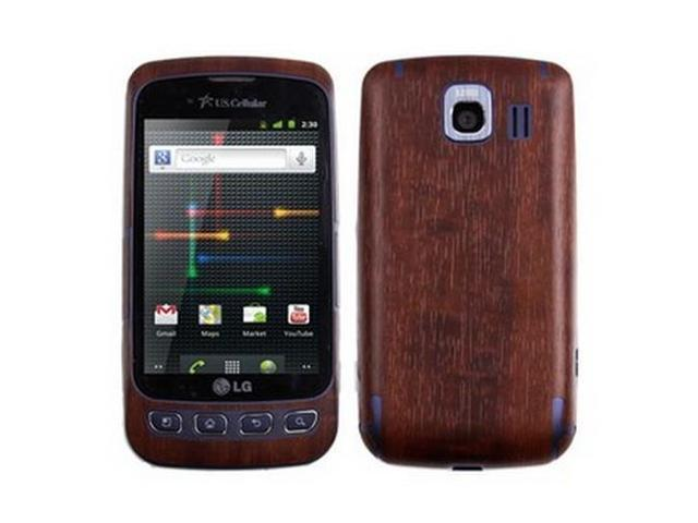 Skinomi TechSkin Dark Wood Film Shield & Screen Protector for LG Optimus U