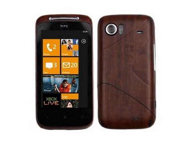 Skinomi TechSkin Dark Wood Film Shield & Screen Protector for HTC Mozart
