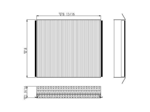 TYC 800071C Cabin Air Filter 1998-2003 Mercedes Benz Trucks 2002-2005 ML500 - 2003 ML55