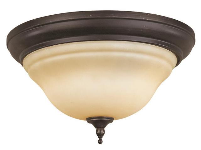 World Imports 8386-88 Montpelier 2-Lgt Flush Mount Ceiling Lgt, Oil Rub Bronze