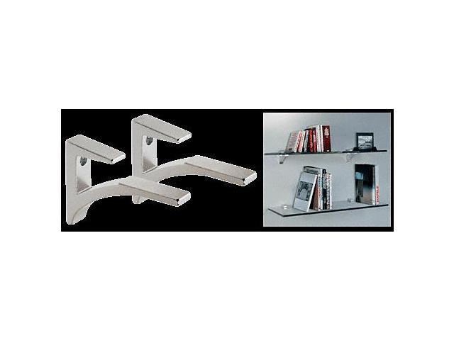 crl chrome aluminum glass shelf bracket