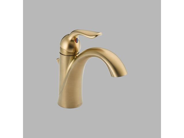 Delta-538-CZMPU-DST Lahara, Single Handle Centerset Lavatory Faucet, Champagne Bronze