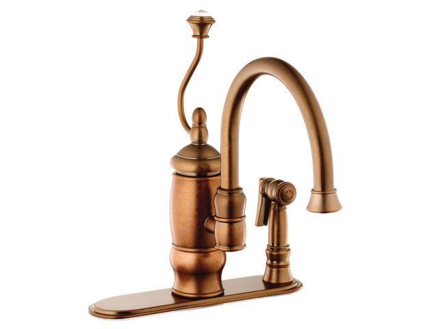 belle foret bfn14203tb kitchen faucet tumbled bronze belle foret n19001 single handle kitchen faucet with