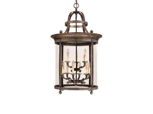 World Imports 1609-63 Chatham 9-Lgt Hanging Lantern, French Bronze