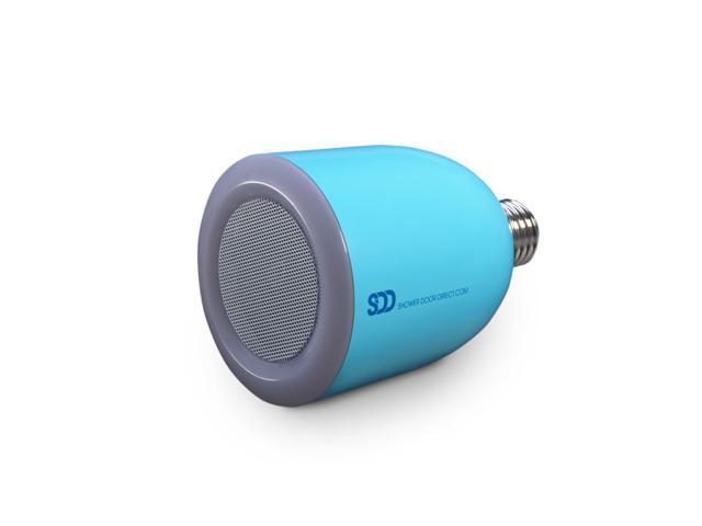 Bulbtunes led light bulb with bluetooth speaker blue for Best bluetooth light bulb speaker