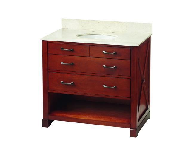 Home Decorators Collection Bxcnvt3622d Brexely 37 Vanity In Warm Chestnut W Marble Vanity Top