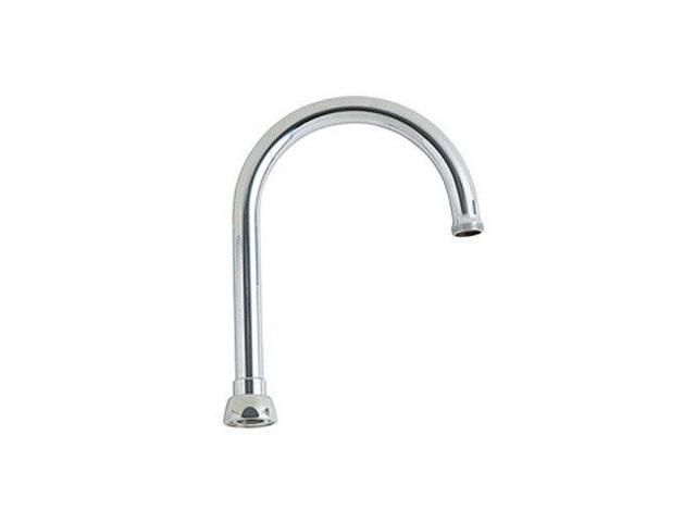 Chicago Faucets Gn2ah8jkcp 5 3 8 Inch C C Rigid Swing Gooseneck Spout Chrome