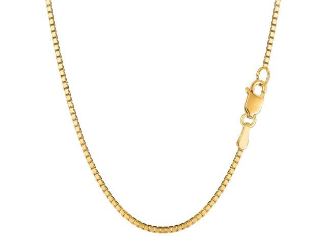 14k yellow gold classic mirror box chain necklace 1 4mm 16 quot newegg
