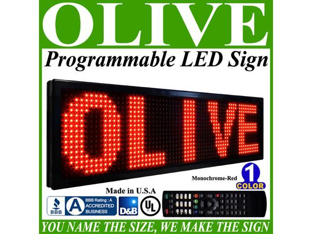 Olive LED Signs 1 Color p15, 12