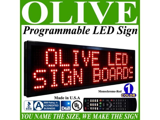 Olive LED Signs 1 Color p20, 28