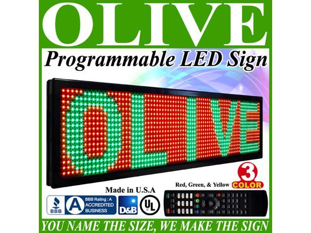 Olive LED Signs 3 Color p26, 19