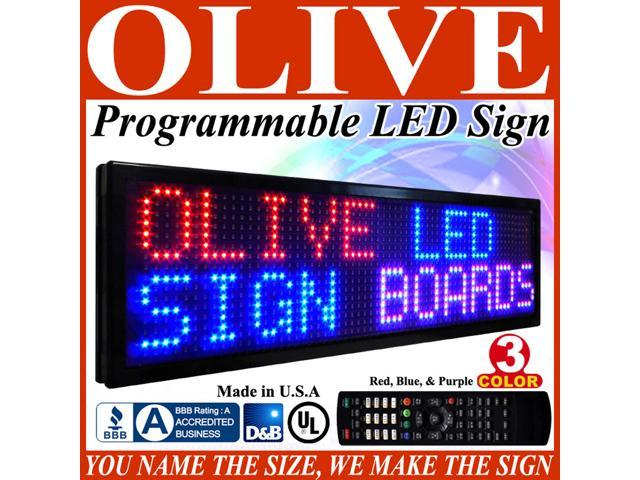 Olive LED Signs 3 Color p26, 36