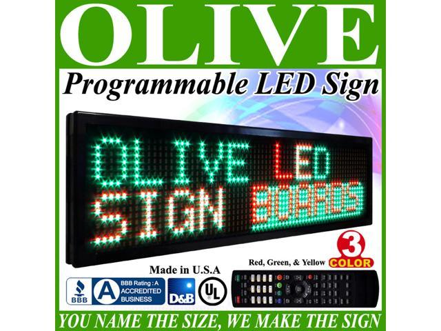 Olive LED Signs 3 Color p30, 41