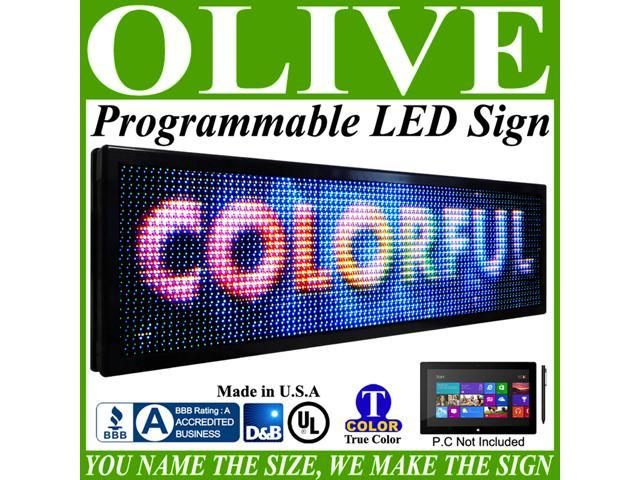 Olive LED Signs Full Color p26, 36