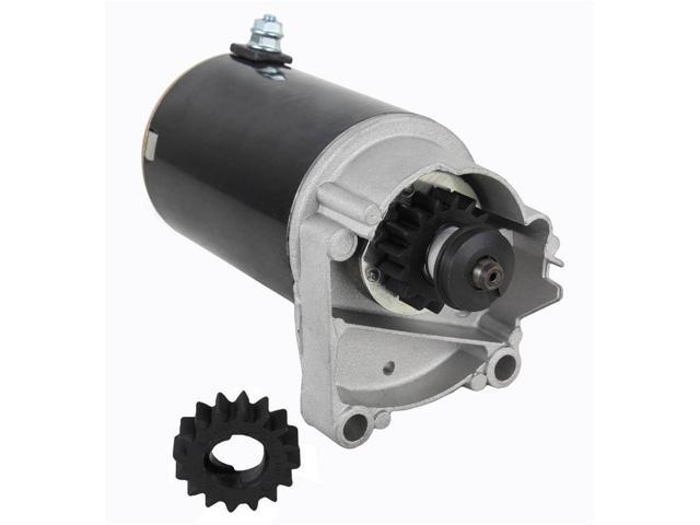 STARTER MOTOR FITS BRIGGS & STRATTON 399928 495100 14 16 18 HP WITH FREE GEAR