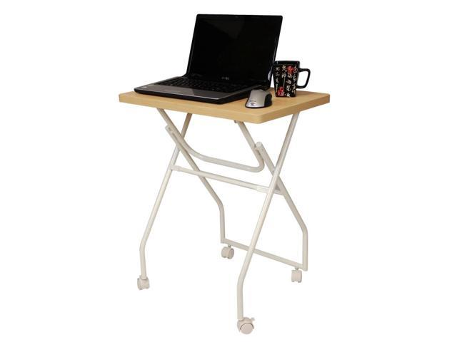 Furinno 11043MO-WH EASi Folding Multipurpose Personal Notebook Stand TV Tray Table, Maple/White