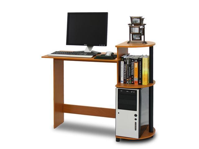 Furinno 11181LC/BK Compact Computer Desk (Light Cherry/Black)
