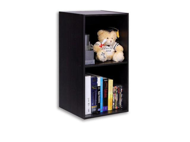 Furinno 11013EXHidup TROPiKA Eco Modular Open Cube Tall Storage with Shelf, Espresso