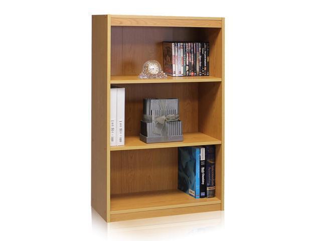 Furinno 11138BE TiADA No Tools Concepts 3-Tier Heavy Duty Bookcase, Beech