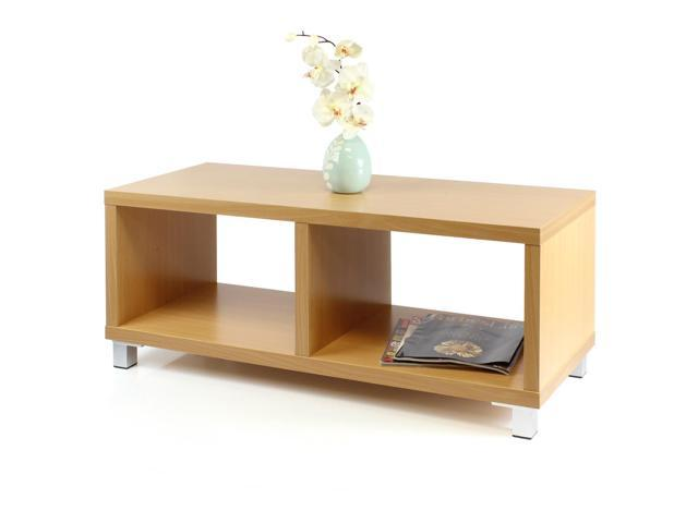 Furinno XBF65-C Nihon Dual-Function TV Stand/Coffee Table - Light Cherry)