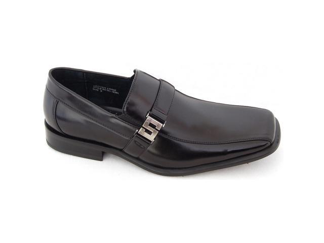Mens Leather Dress Shoes Buckle Loafers Slip On Black Dressy Free Shoe Horn NEW