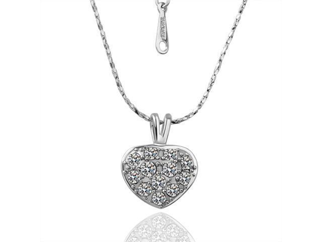 Olivia (White Gold) 18K Gold Plated Rhinestone Crystal Pendant Necklace